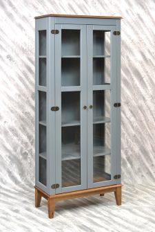Ref. 4234CZCZ – Cristaleira 2 portas – Cinza