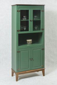 Ref. 4206VD – Cristaleira 4 Portas- Verde