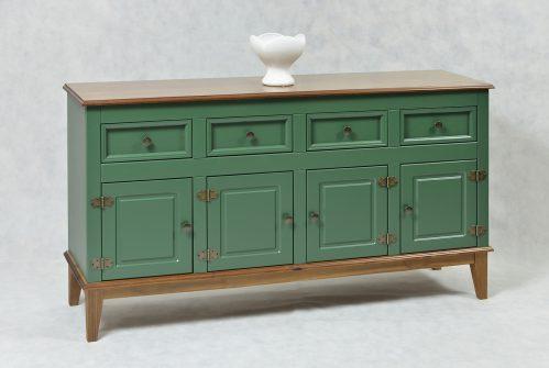 Ref. 4342VD – Balcão 4 portas + 4 gavetas – Verde