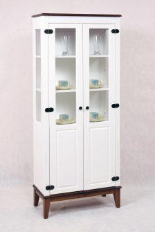 Ref. 4238 – Cristaleira 2 Portas  – Branco