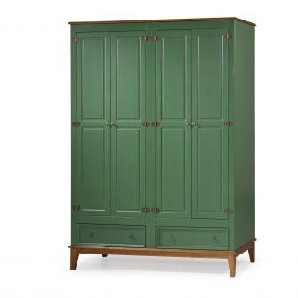 Ref. 4604 -Armário 4 Portas  – Verde