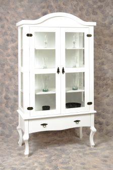 Ref. 1004 – Cristaleira Luiz XV  – Branco